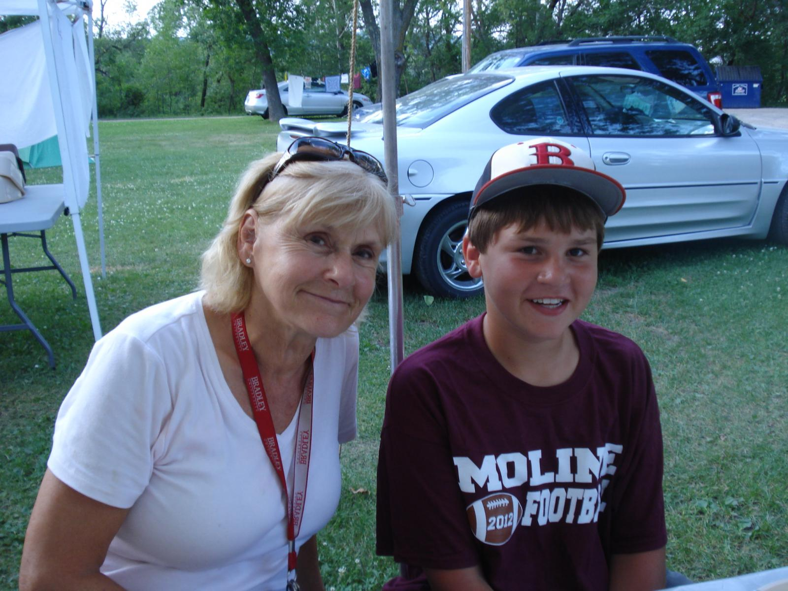 Helen Christopher and her 12-year-old grandson, Hunter.