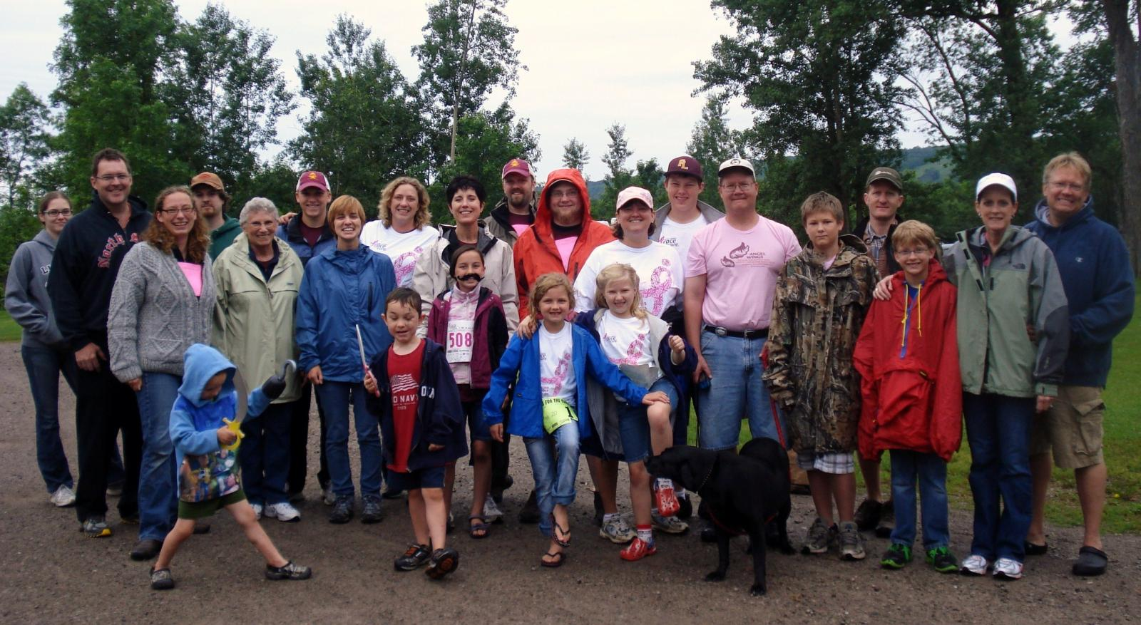 Krinke-Hawkinson Family before hitting the trail for their own version of Susan G. Komen 5K Walk.